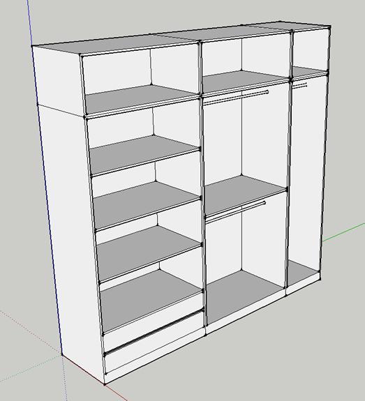 Armario de 60 cm de ancho cool armario de puertas for Zapatero 60 cm ancho
